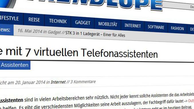 Werbung | Liste mit 7 virtuellen Telefonassistenten