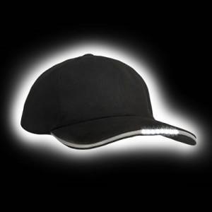 LED Baseball Cap LedItSee schwarz dunkel