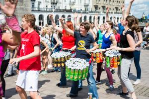 Pringles_Schlagzeug-Performance