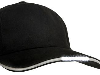 LED Baseball Cap LedItSee schwarz hell