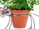 Werbung | Metall-ART Design Katze Blumentopfhalter – Dekorativer Halter für den Blumentopf