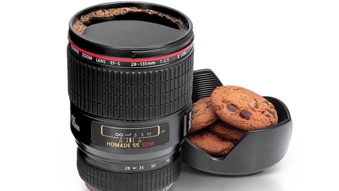 Werbung | Kaffeetasse Kameraobjektiv – Der passende Becher für alle Fotografen