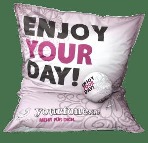 Gewinnspiel: Sitzsack inklusive Musikkissen von yourfone.de – Enjoy your Day