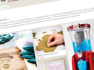 Originelle Hochzeitsgeschenke schnell und einfach finden auf www.radbag.de