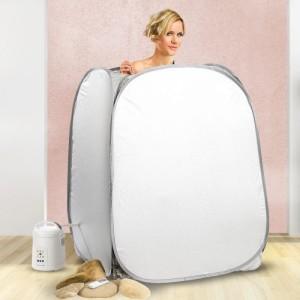 Kompakte Heim-Dampfsauna - Wellness für Zuhause