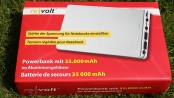 revolt Powerbank mit 35.000 mAh für Notebook & Co