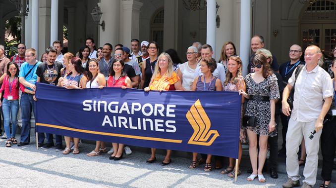 Singapore Airlines Gruppenbild