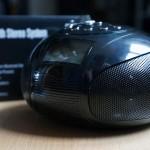 Werbung | Mini Bluetooth Stereoanlage – Tragbares Radio mit Bluetooth-Funktion, SD Kartenleser, USB und AUX Eingang