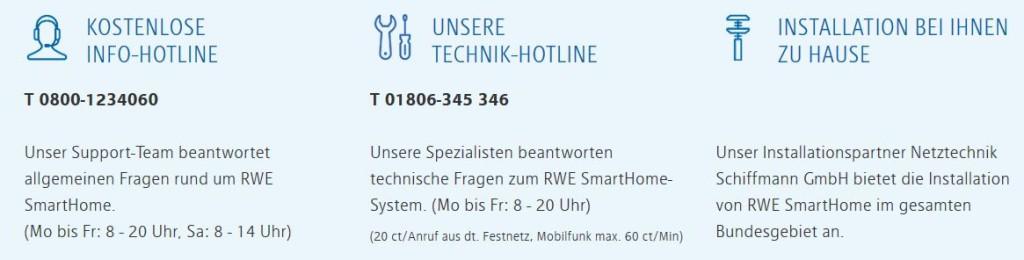 RWE Smarthome Kontakt