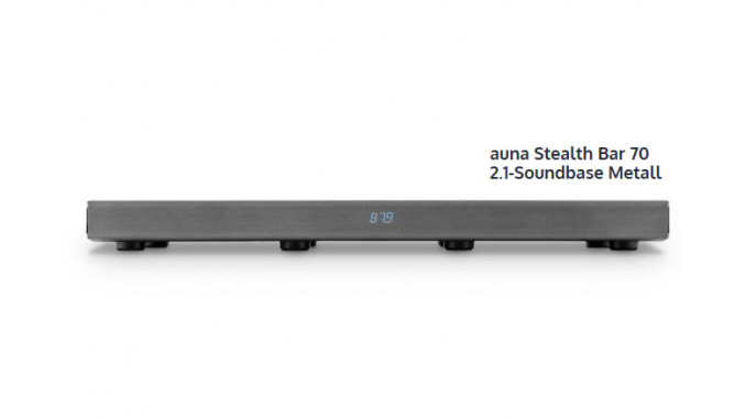 Auna Stealth Bar 70 2.1-Soundbase Metall