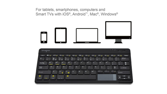 Sharon 4-in-1 Ultraslim Bluetooth Tastatur von LEICKE