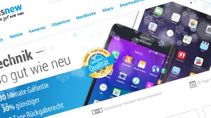 "asgoodasnew – Gebrauchte Elektronik kaufen ""so gut wie neu"""