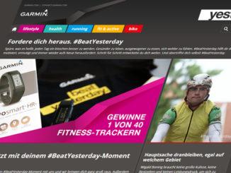 Garmins #BeatYesterday Kampagne