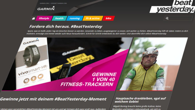 Garmins #BeatYesterday Kampagne