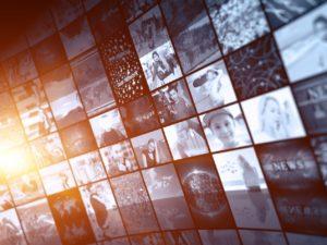 Digital Media concept screens smart TV