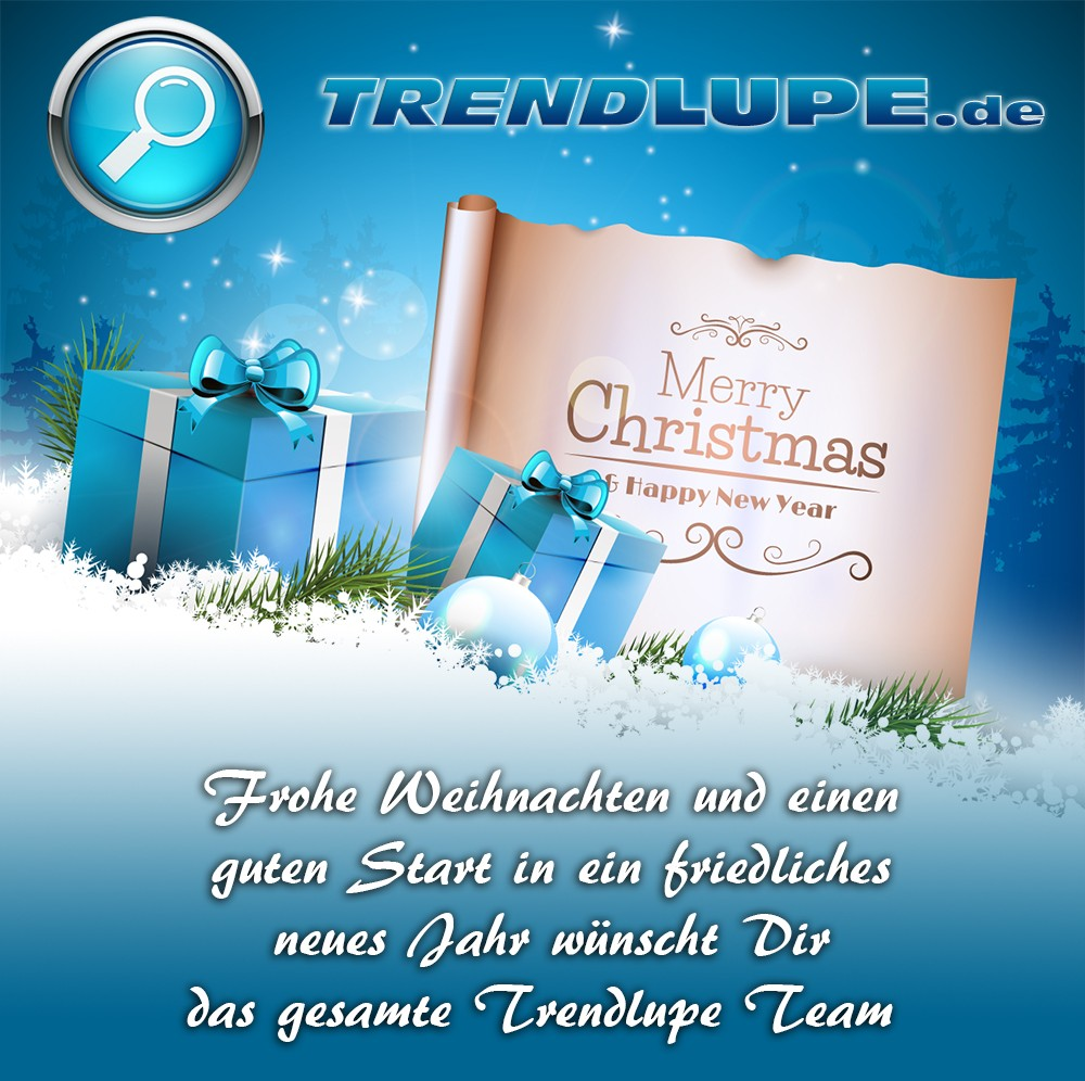 Trendlupe wünscht fröhliche Weihnachten