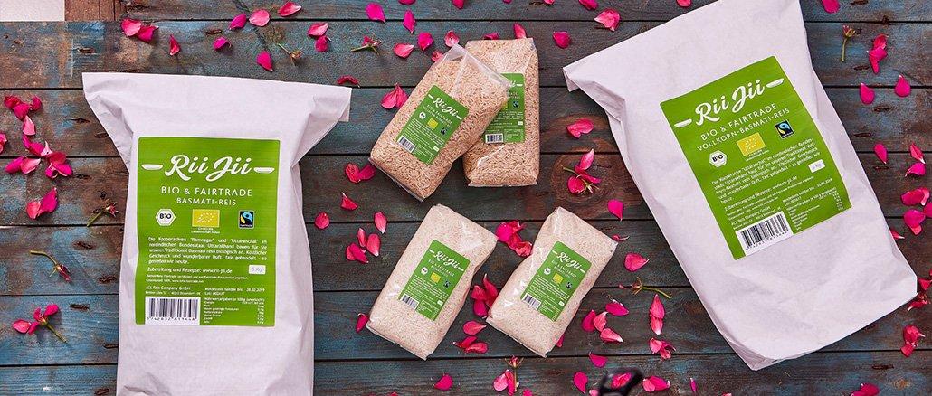 Rii Jii Basmati Reis – biologisch angebaut und Fairtrade zertifiziert