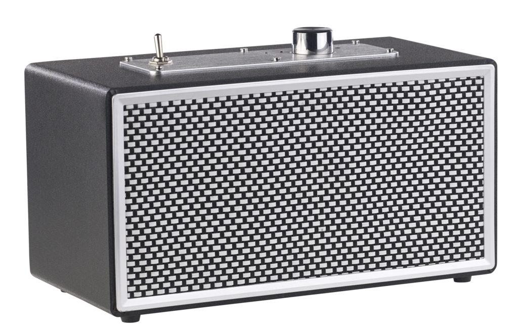 Werbung | auvisio Mobiler Retro-Lautsprecher mit Bluetooth 4.1 und AUX-Eingang