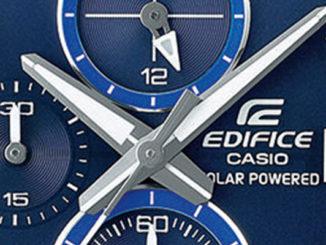 Werbung | EDIFICE EFB-560SBD – Moderner Chronograph mit Solartechnologie