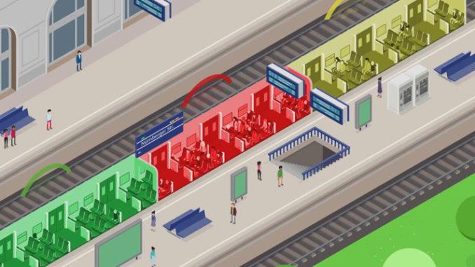 Leuchtende Bahnsteigkanten