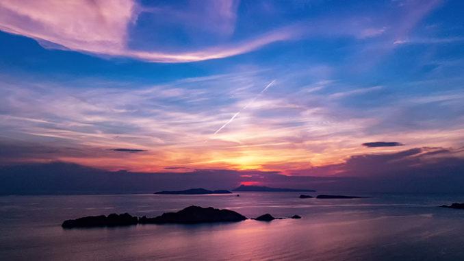 Werbung | Sonnenuntergang und Dämmerung auf Korfu