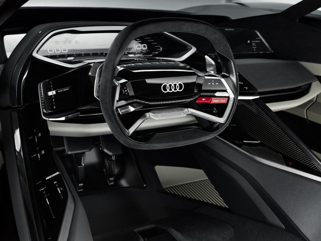 Werbung   Designstudie des Audi PB18 e-tron – Weltpremiere in Pebble Beach