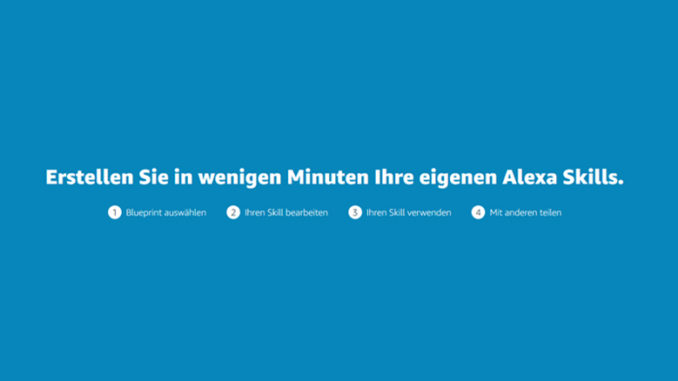 Amazon Alexa Skill Blueprints jetzt in Deutschland