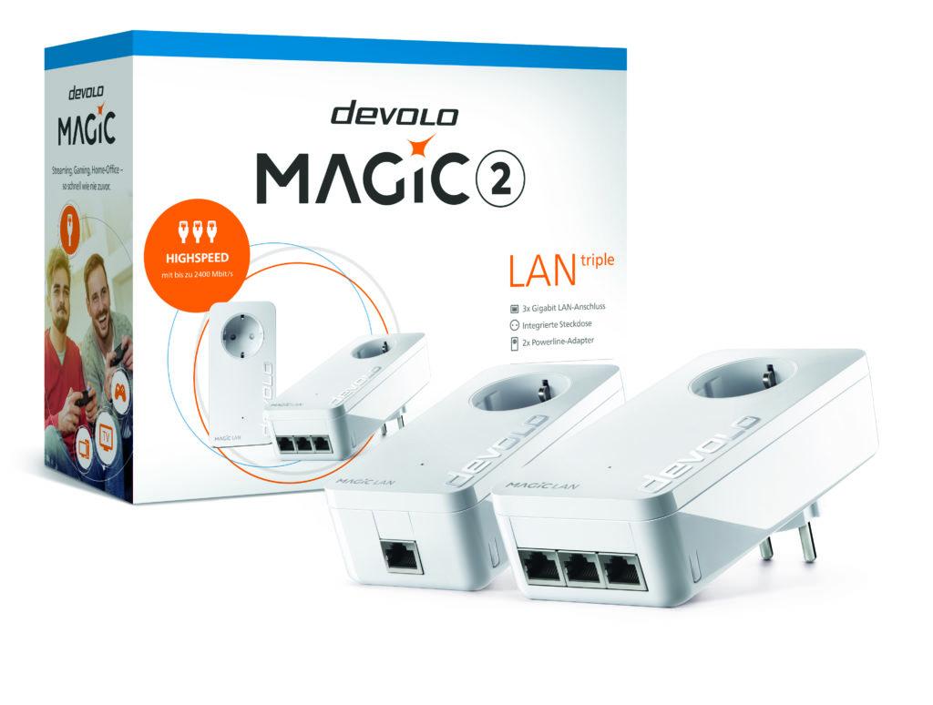 Werbung   devolo Magic 2 LAN triple – zuverlässiges Highspeed-Internet aus der Steckdose
