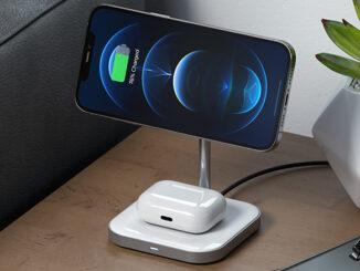 Satechi Magnetic 2-in-1 Wireless Charging Stand - die duale Ladestation mit dem Komfort der magnetischen Halterung