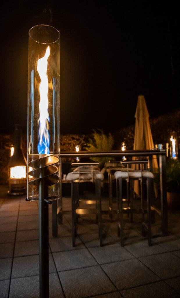 Pottbrenner - beeindruckende Flammenwirbel im Garten