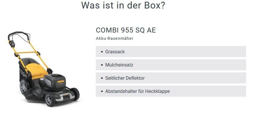 Akku Rasenmäher COMBI 955 SQ AE - Geschwindigkeit und Leistung