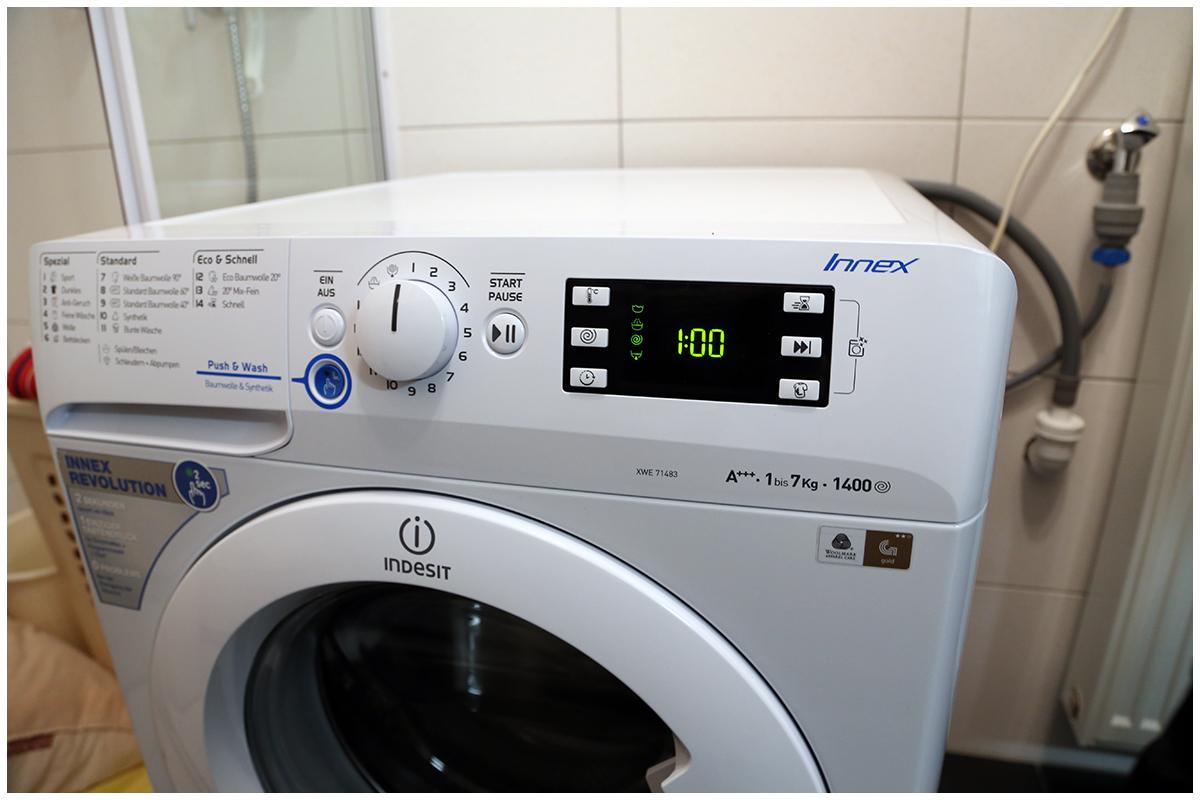 Ausgepackt Und Aufgestellt Indesit Waschmaschine Innex Trendlupe