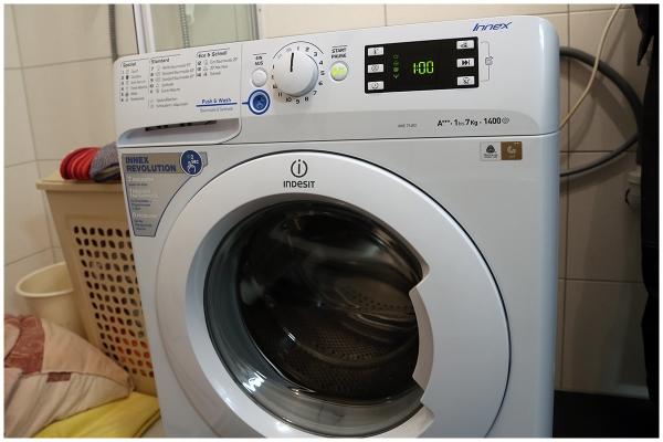 Ausgepackt und aufgestellt indesit waschmaschine innex