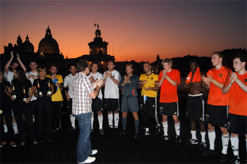 Werbung   David Breimer – Foto Impressionen aus Venedig – Sony Twilight Football