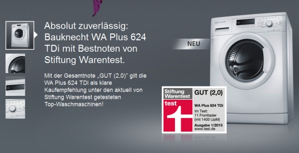 Test: Bauknecht WA Plus 624 TDi