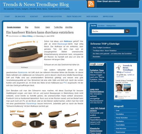 Werbung | Trendlupes neue Kleider – Blog Design in blau