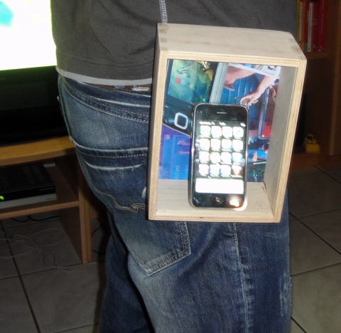 Werbung   Trendige Fensterglas Tasche für Apple iPhone 2G/3G/3GS
