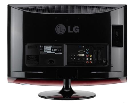pc monitor und fernseher in einem ger t lg m2362d tft. Black Bedroom Furniture Sets. Home Design Ideas