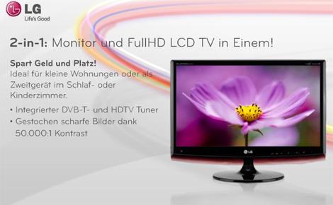 Werbung | PC-Monitor und Fernseher in einem Gerät – LG M2362D TFT Monitor