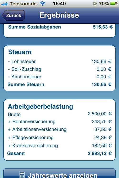 Nettolohn Berechnen : app nettolohnberechnung trendlupe ein ~ Themetempest.com Abrechnung