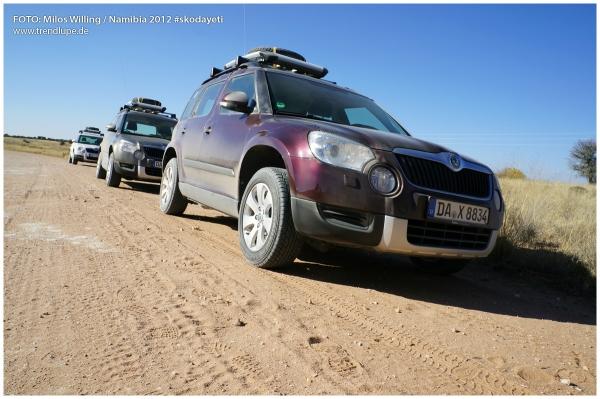 skoda yeti in namibia